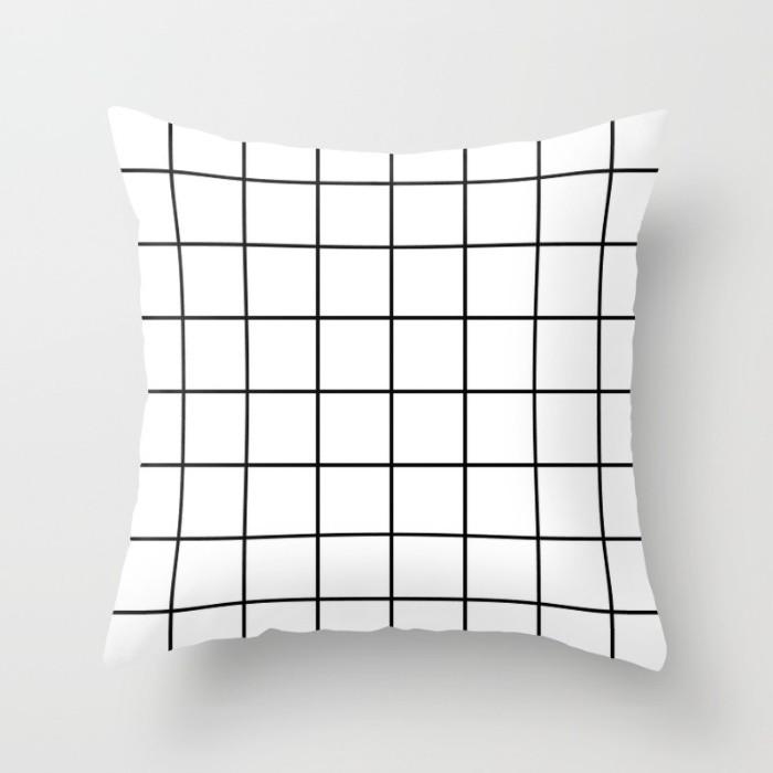 895f47c4fd Capa Almofada Quadrados Branca 60x60 no Elo7