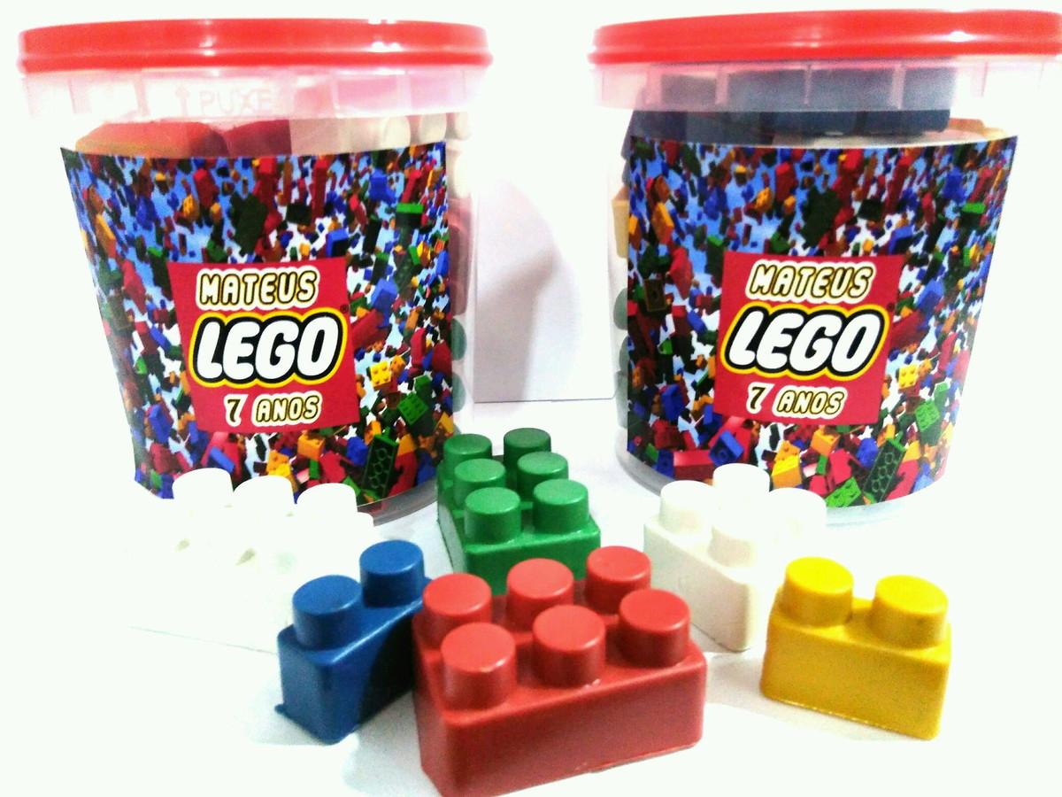 5a0a2744a6 Lego pote com blocos de montar no Elo7