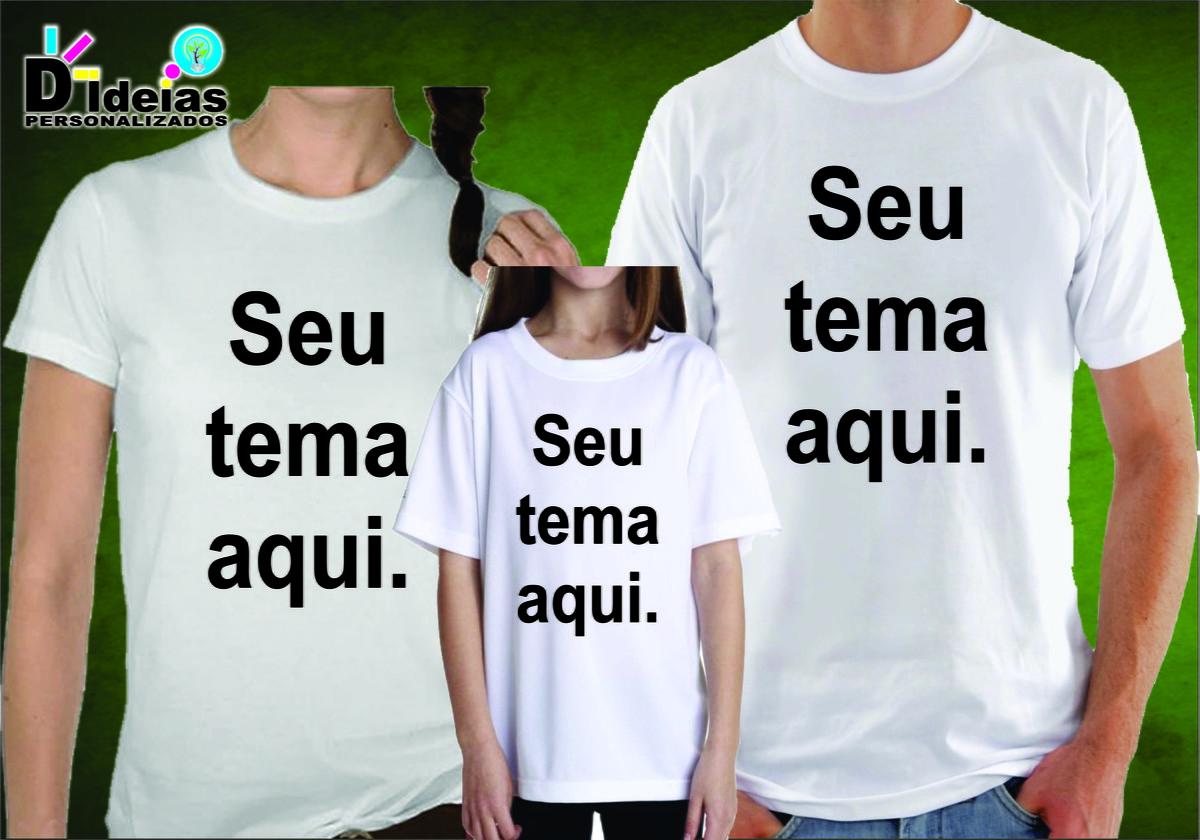 Kit Festa Camisas Personalizadas Pai-Mãe-Filha no Elo7  4fe276ff46c2f