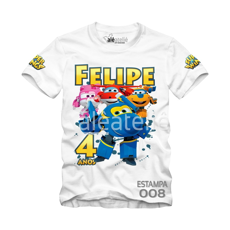 6baf106c1 Camiseta Super Wings Personalizada no Elo7