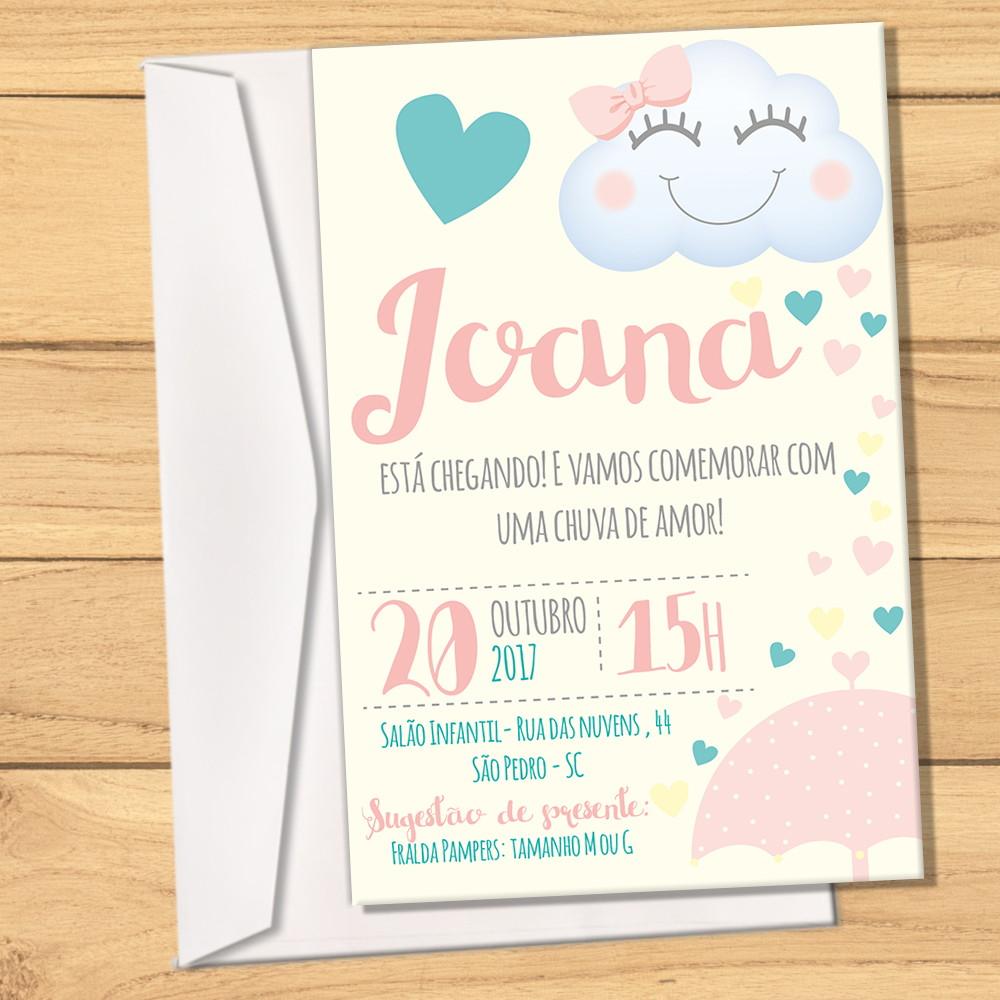 Convite Envelope Chuva De Amor Pastel No Elo7 Design Party A7ff04