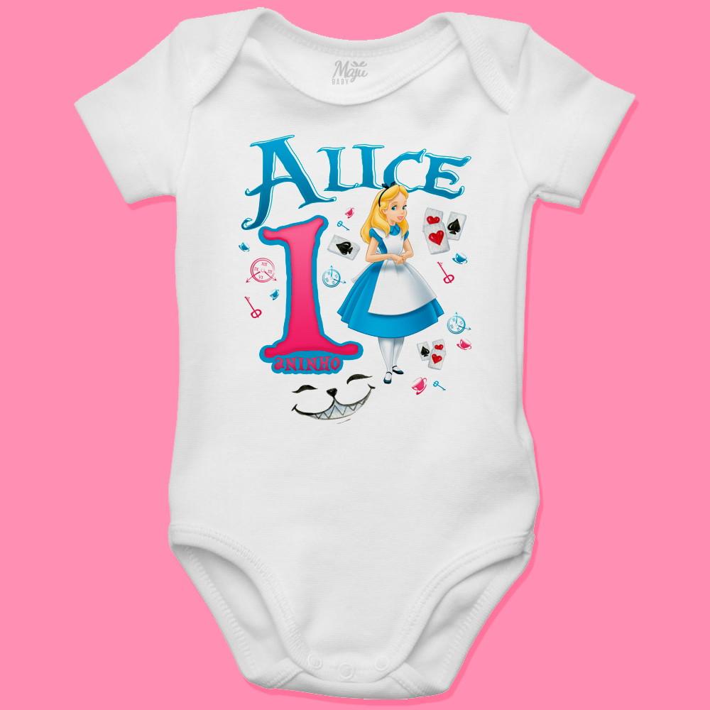 24371f526 Body para bebê Personalizado Alice no País das Maravilhas no Elo7 ...