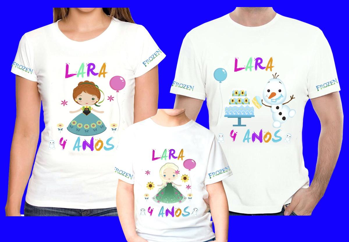 272fd628fa Kit 3 Camisetas Personalizadas Frozen cute no Elo7