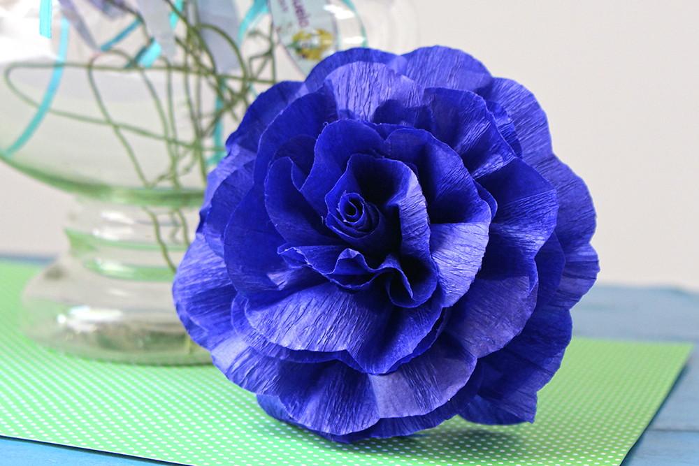 Flores de papel crepom parafinado no Elo7 Aguirre Festas (A867BF) -> Decoração De Festa Com Papel Crepom Passo A Passo