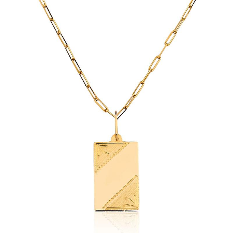 d62158615c786 1 Pingente Placa Nome Ouro 10k P17 (sem a corrente) no Elo7 ...
