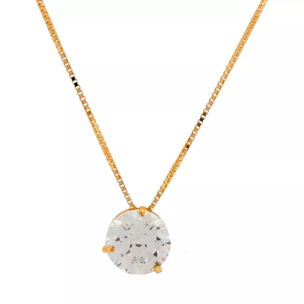 Gargantilha Ouro Veneziana 18k 45cm + Pingente Ponto De Luz no Elo7 ... 666928273a