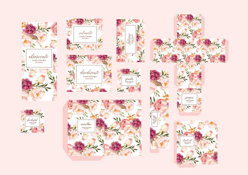 Kit Banheiro Casamento Floral : Kit banheiro casamento festas digital para impress?o