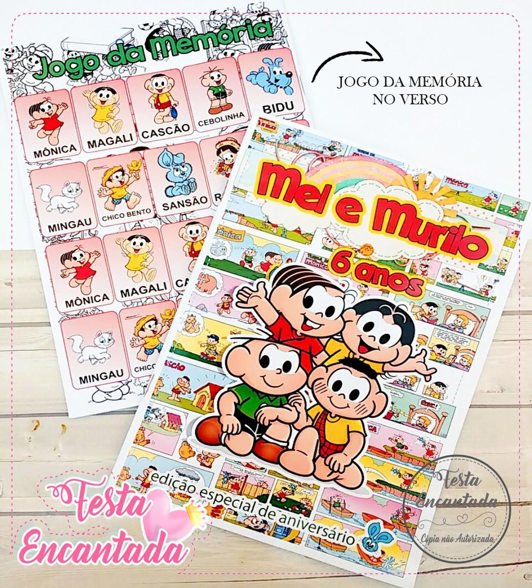 Revista De Colorir Turma Da Monica No Elo7 Festa Encantada