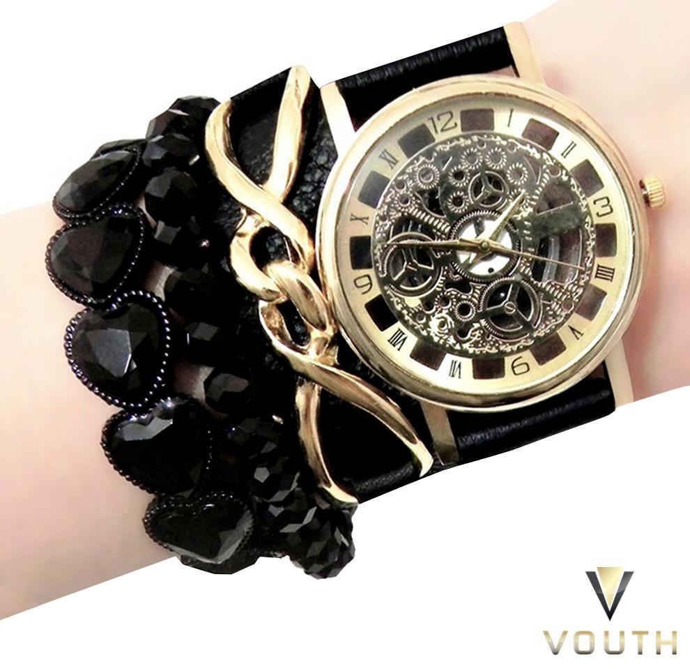 37581dfb380 Relógio Feminino Pulseirismo Preto no Elo7