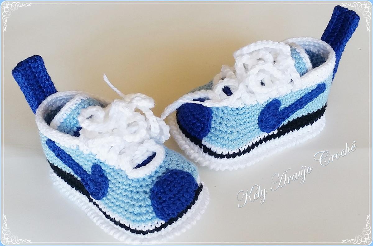 d773d544d Tênis Nike Crochê Baby no Elo7