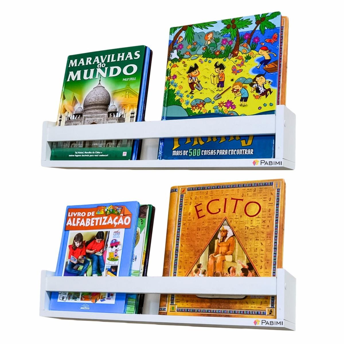 Prateleira Porta Livros 60 Cm C 2 Pabimi Elo7 ~ Prateleira Em Quarto Infantil E Parede De Pvc Para Quarto