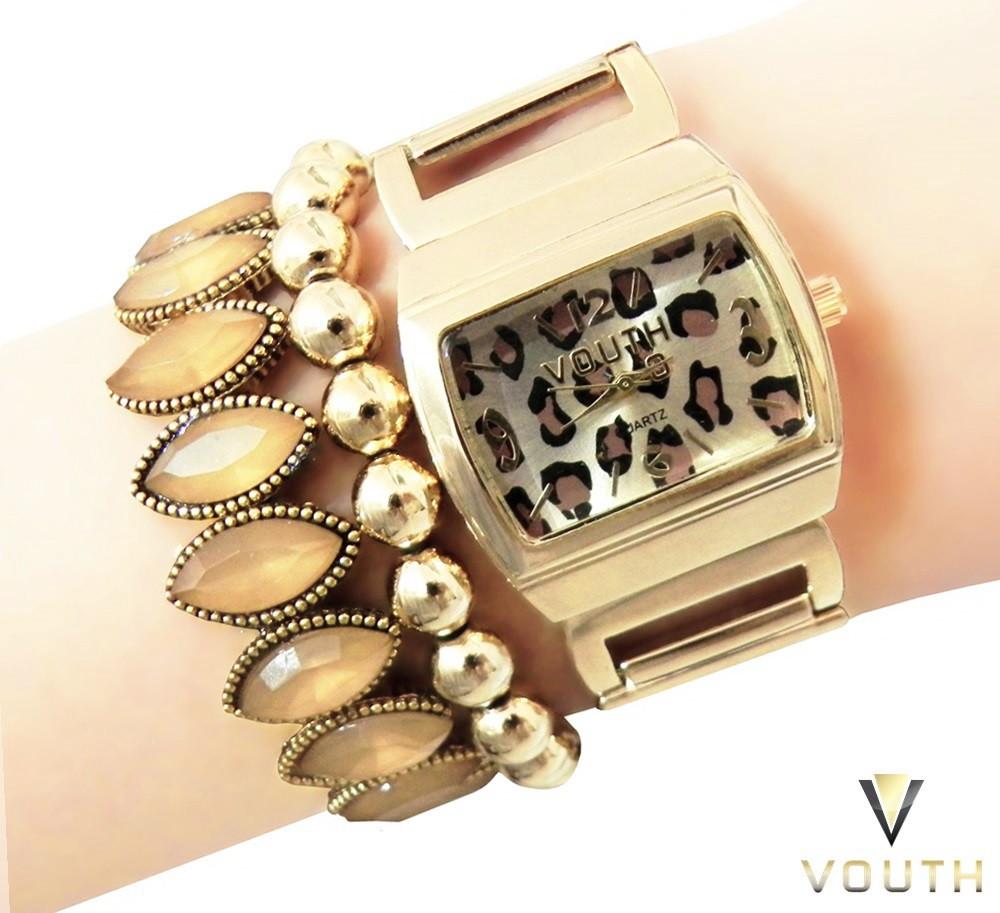 250ad16df7423 Relógio Feminino Dourado no Elo7