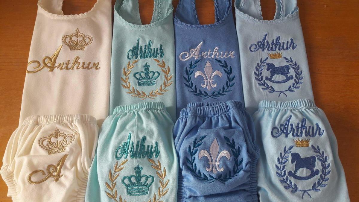 5dfb91ae1bc579 Conjunto Camiseta + Cueca (02 peças)
