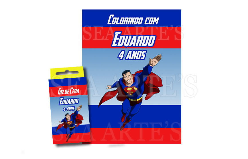 Kit Colorir Super Homem No Elo7 Sea Artes A9488c