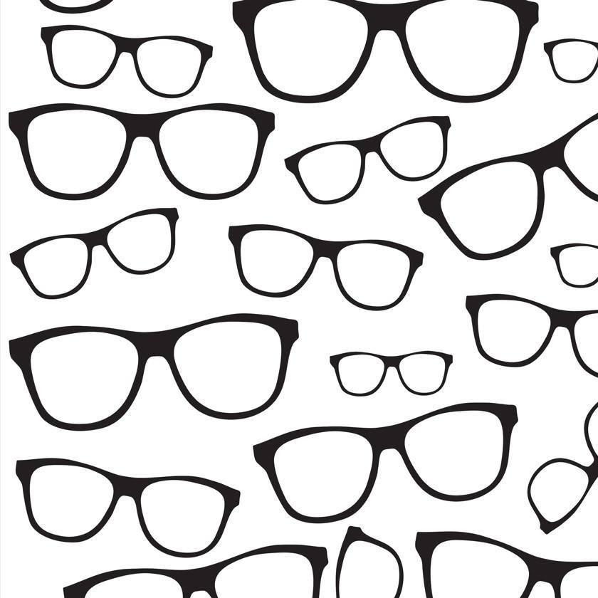 fd660b1da Papel De Parede Teen Óculos Preto Ótica no Elo7 | DecoraPlus (A95343)