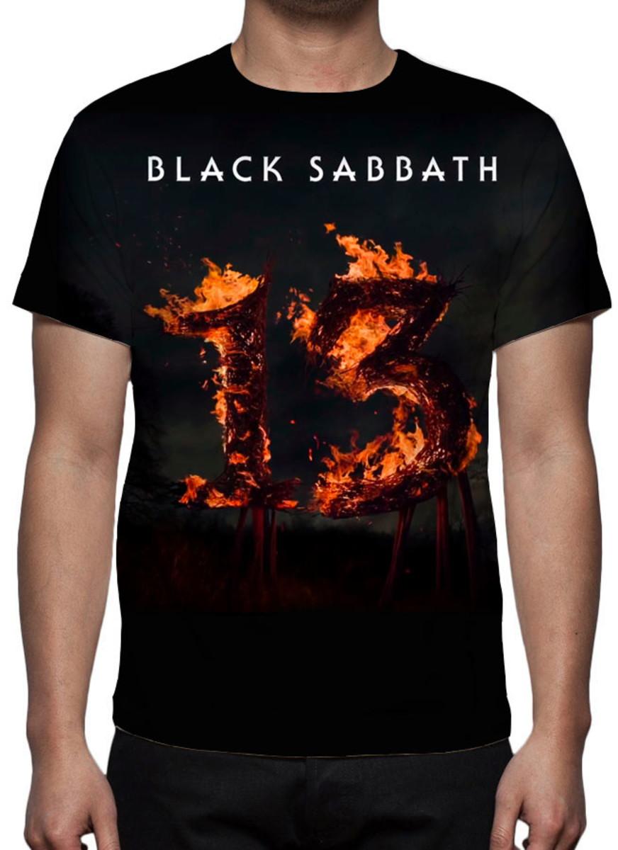 a4a377bd68cab Camiseta Banda Black Sabbath 13 - Estampa Total no Elo7
