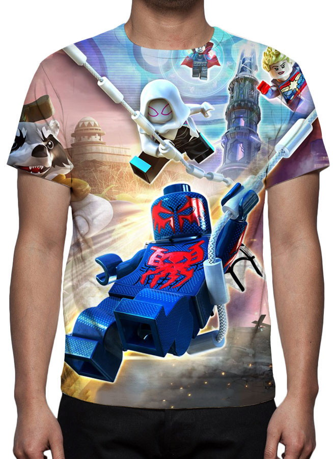 Camiseta Game Lego Marvel Super Heroes 2 - Estampa Total no Elo7 ... f92fa8da32c18