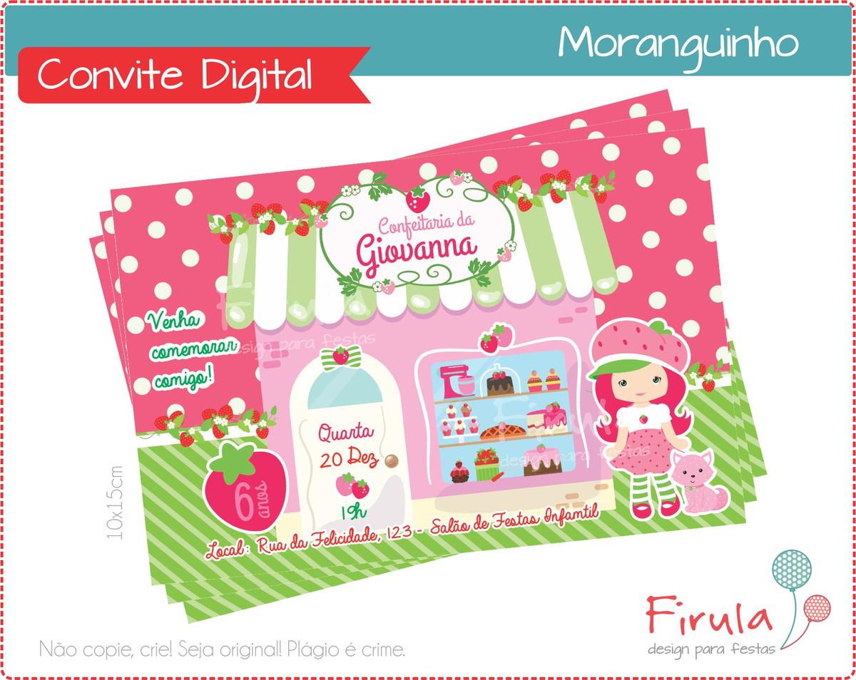 Convite Digital Confeitaria Da Moranguinho No Elo7 Firula Festas