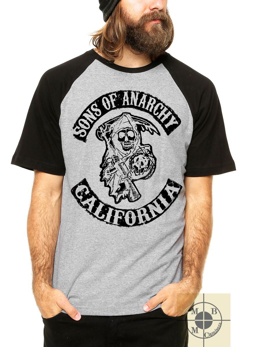 b9ff9004edad4 Camiseta Raglan Filhos da Anarquia Samcro Sons Série no Elo7 | MMB ...