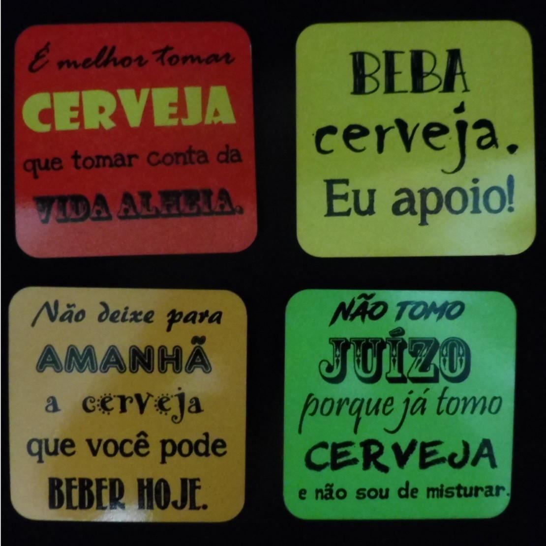 41fa9c9f3 Porta copos - Frases sobre Cerveja no Elo7