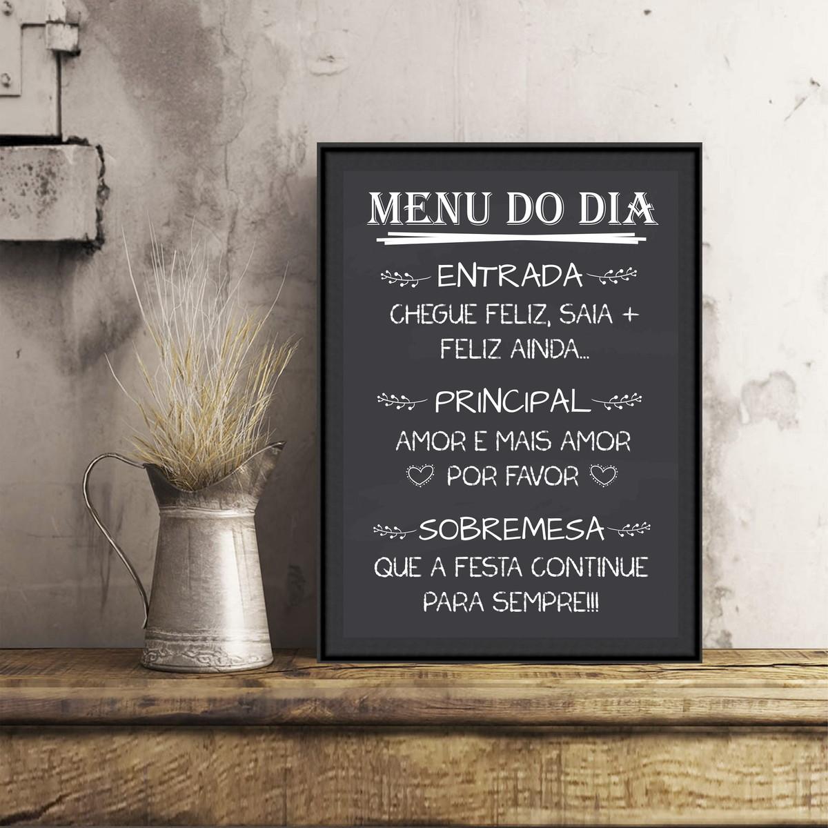 Chalkboard Para Casamento A4 Menu Do Dia No Elo7 Chuva De Arroz