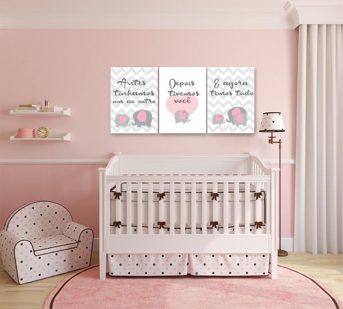 Poster Infantil Quarto Beb Menina 3 Posters Cactus Studio Elo7 ~ Quarto De Bebe Parede Com Poster Decoração Quarto