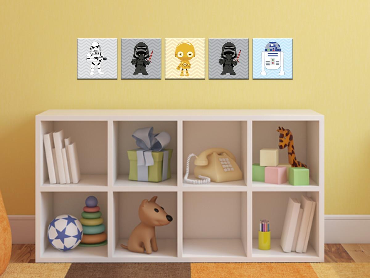 Os Melhores Quadros Pequenos Para: Kit Decoração Quarto Infantil 5 Quadros No Elo7