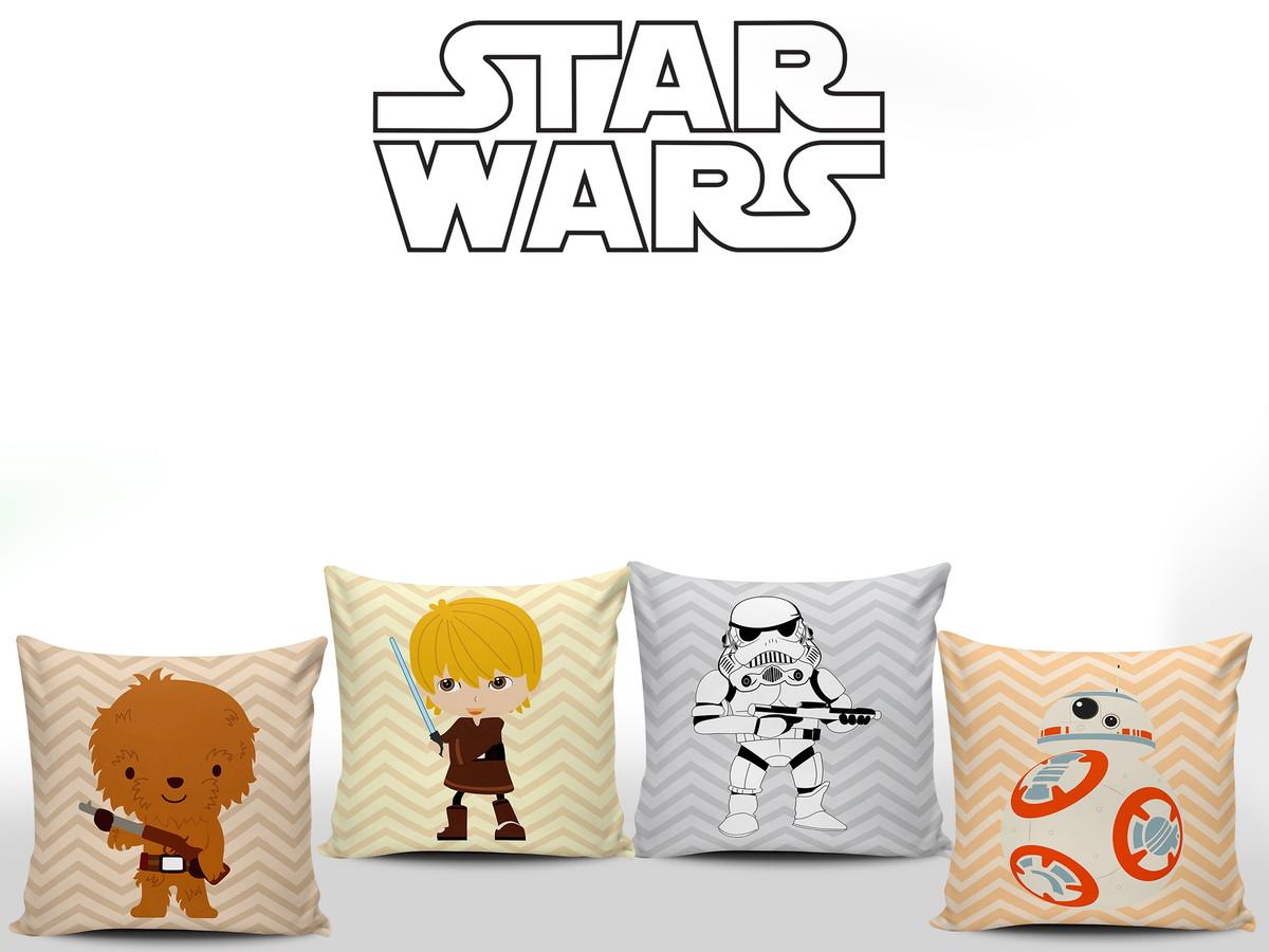 df0ad6fdd Star Wars Baby 4 Almofadas Quarto Menino no Elo7