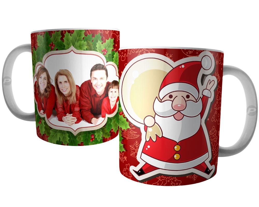 e519c2bcd Caneca Natal Papai Noel Personalizada com Foto da Família no Elo7 ...