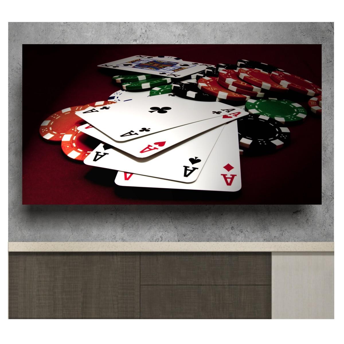 Preferência Adesivo De Parede Jogos Sala Poker 2mts Cartas Baralho S40 no Elo7  MS83