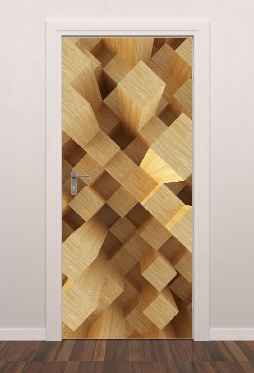 Adesivo Porta Cubos C01 3d Quarto Sala Banheiro Geladeira Mania  ~ Customização De Objetos Para Quarto