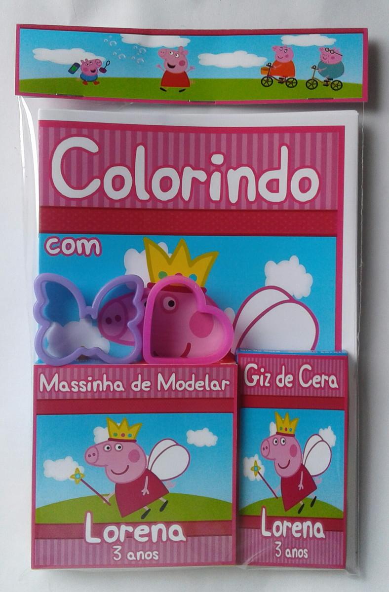 Zoom · Kit Colorir + Massinha com 2 Moldes Peppa Pig