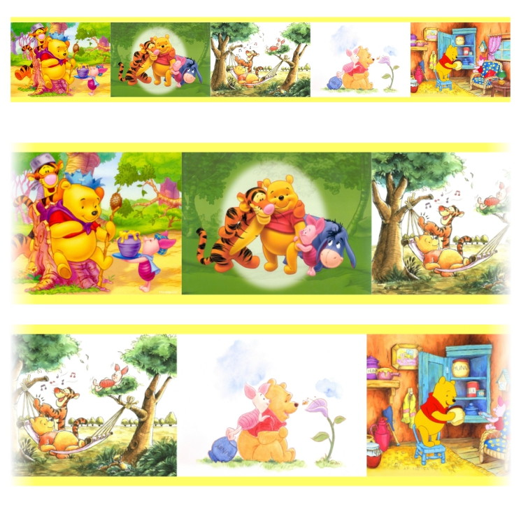 a521abcbe Faixa adesiva infantil Ursinho Pooh Mod 273 kit c  05 unids no Elo7 ...