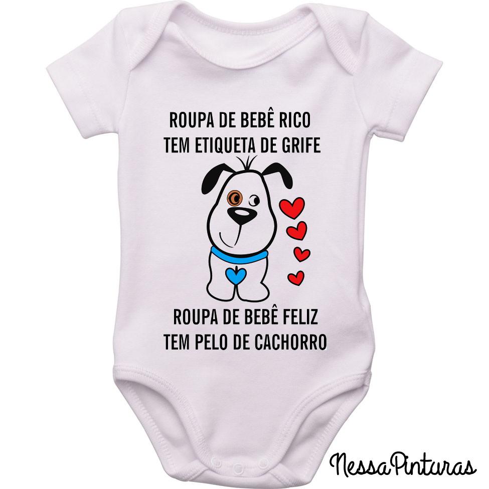 578376e323d8 Roupinha de bebê feliz tem Pêlo de CACHORRO no Elo7   excluido_Nessa ...