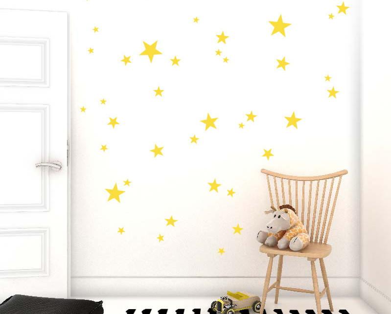 Armario De Cozinha Casas Bahia Pequeno ~ Adesivo estrelas amarelas no Elo7 Quarto de Criança Lojadecoreacasa (AA613F)