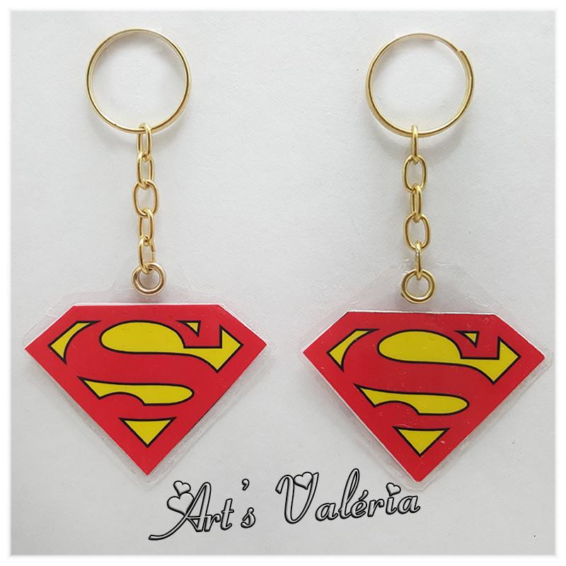 Chaveiro Símbolo Super Homem no Elo7   Arts Valeria Personalizados ... 56cd0bdfdc