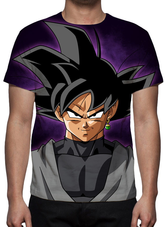 453f5d63a Camiseta Dragon Ball Super - Goku Black Face - Estampa Total no Elo7 ...
