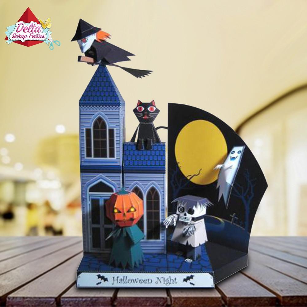 Arquivo Silhouette Castelo Halloween no Elo7   Design Scrap Festas ... dc0704bde8