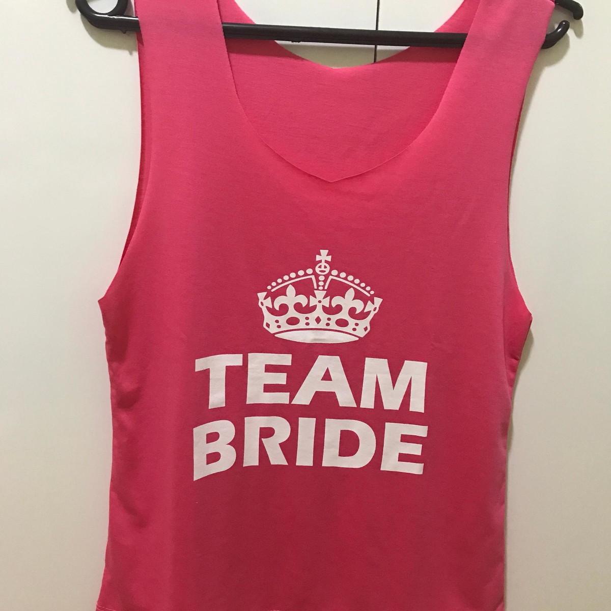 03fbbd35a Camiseta Despedida Solteira Team Bride Regata no Elo7