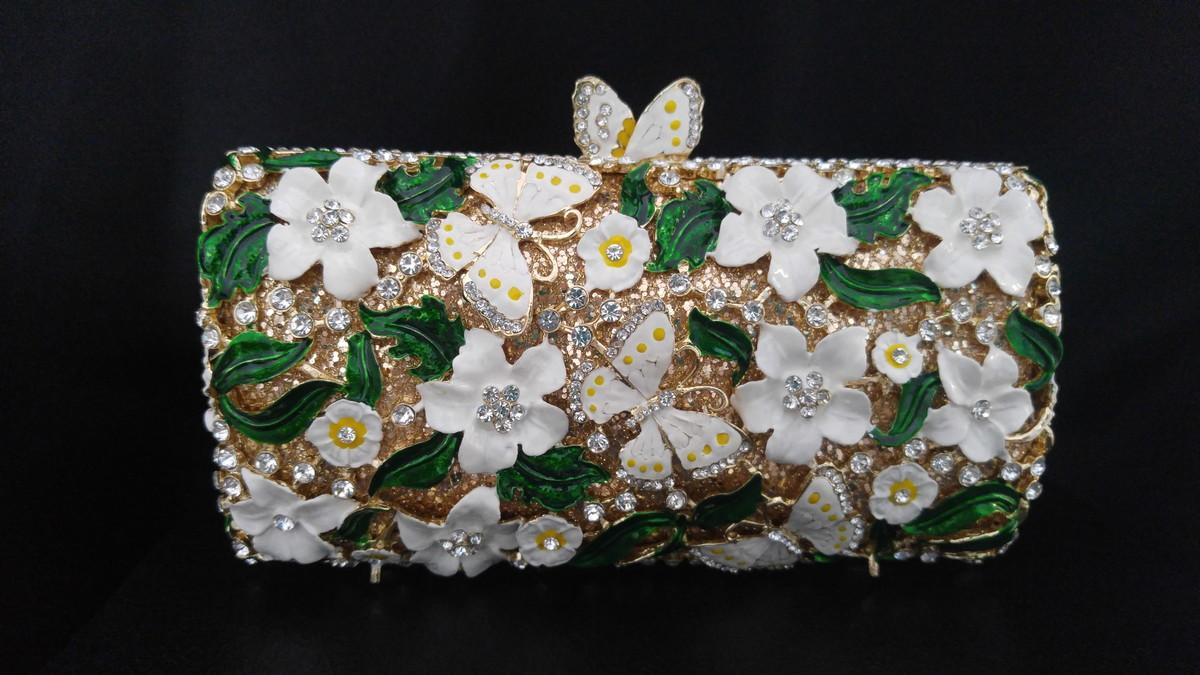 Bolsa De Mao Festas : Bolsa festa m?o fina luxo clutch premium flores