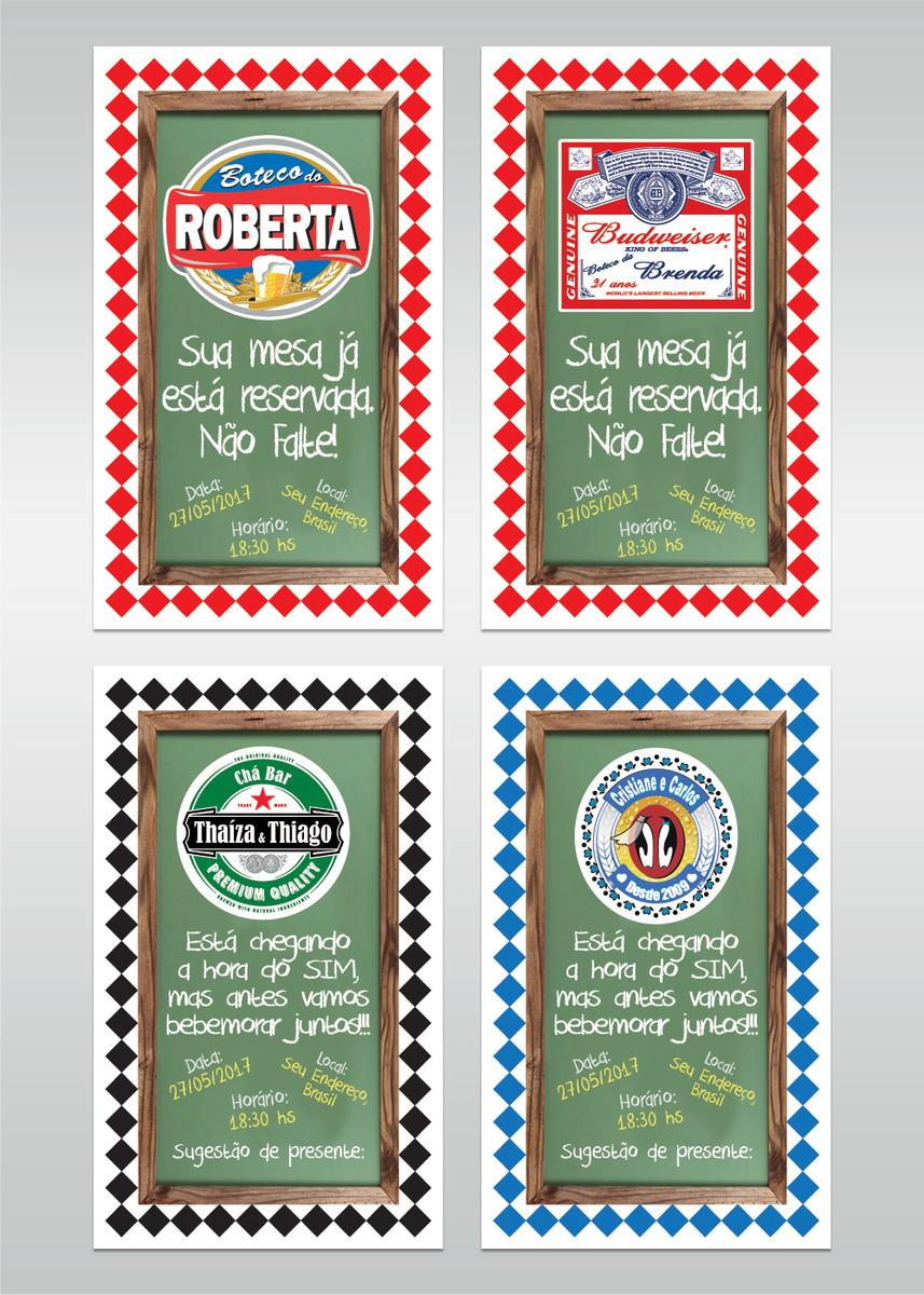 Convite Digital Festa Boteco Cervejas No Elo7 Mania Impressa Aaaeb2