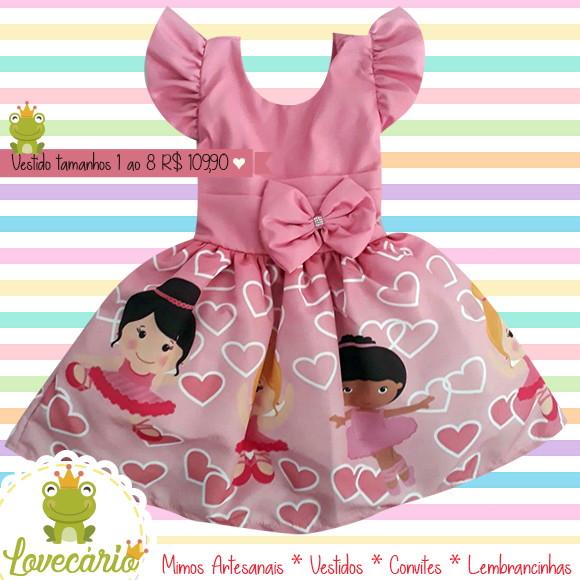 4b453cde94 Vestido Bailarina Luxo no Elo7