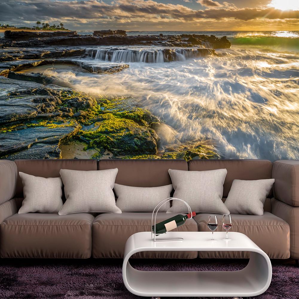 Painel Adesivo Decorativo De Parede Cachoeira 8 No Elo7 Ura Decor  -> Mural Parede Sala