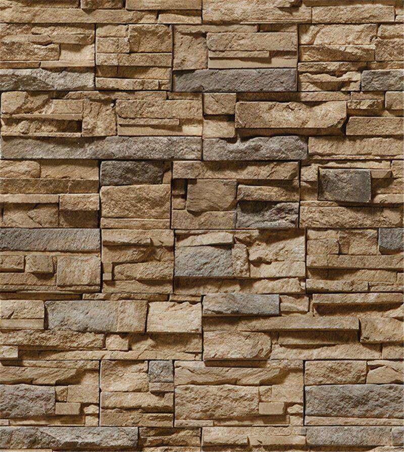 4482aa5b9 Zoom · Papel de parede pedra canjiquinha bege