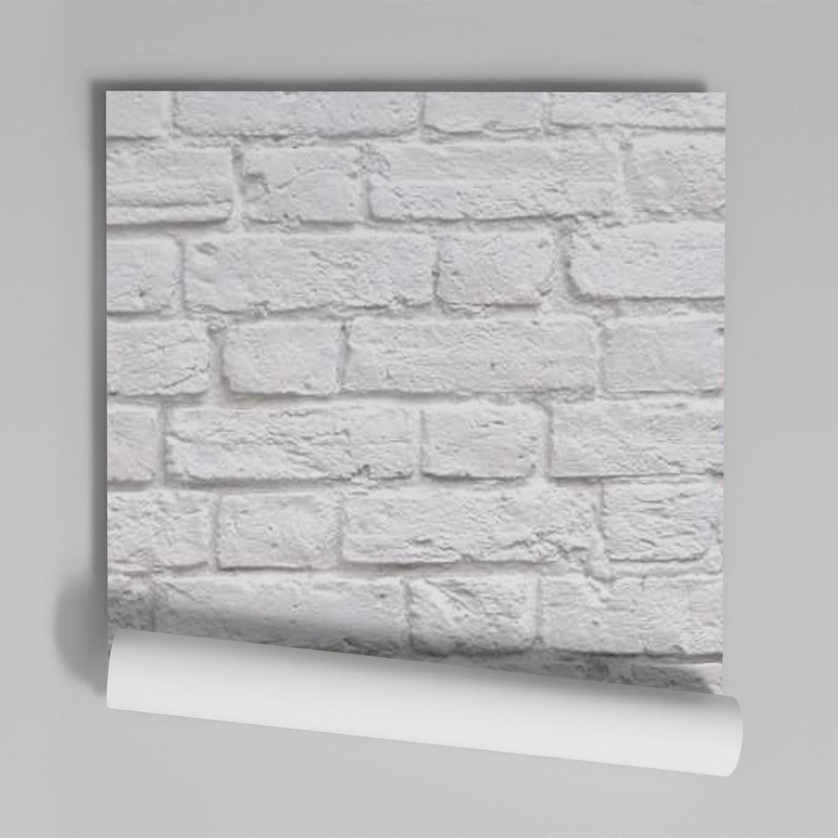 05701ece7 Zoom · Papel De Parede Adesivo Pedras Tijolinhos 1