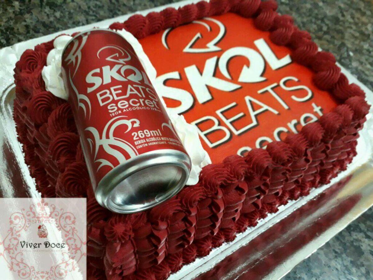 Super Bolo Skol Beats Secret no Elo7 | Viver Doce (AAE772) MM49