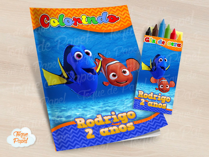 Kit Para Colorir Nemo Dory No Elo7 Toque De Papel Aaebf2