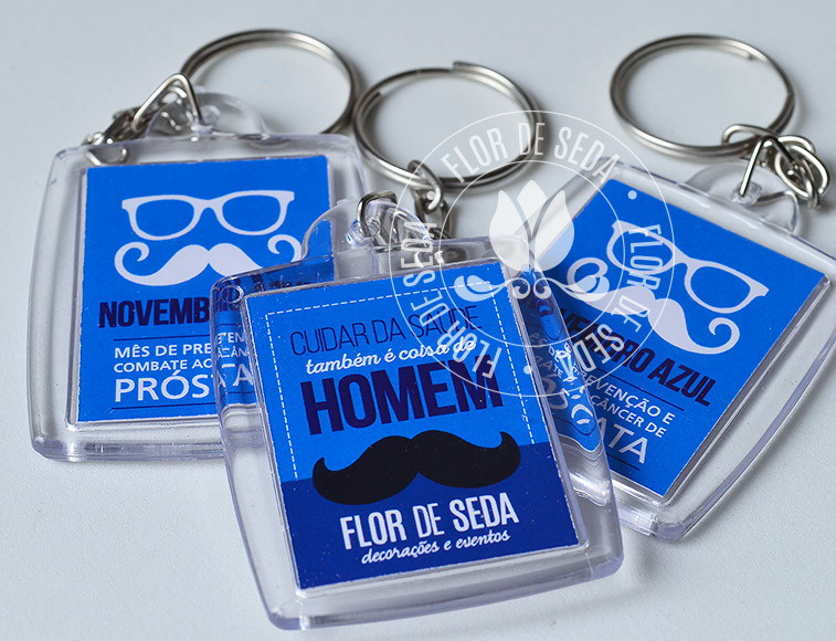Chaveiro Personalizado Novembro Azul - 300 unidades no Elo7   Flor ... da8731d5f6