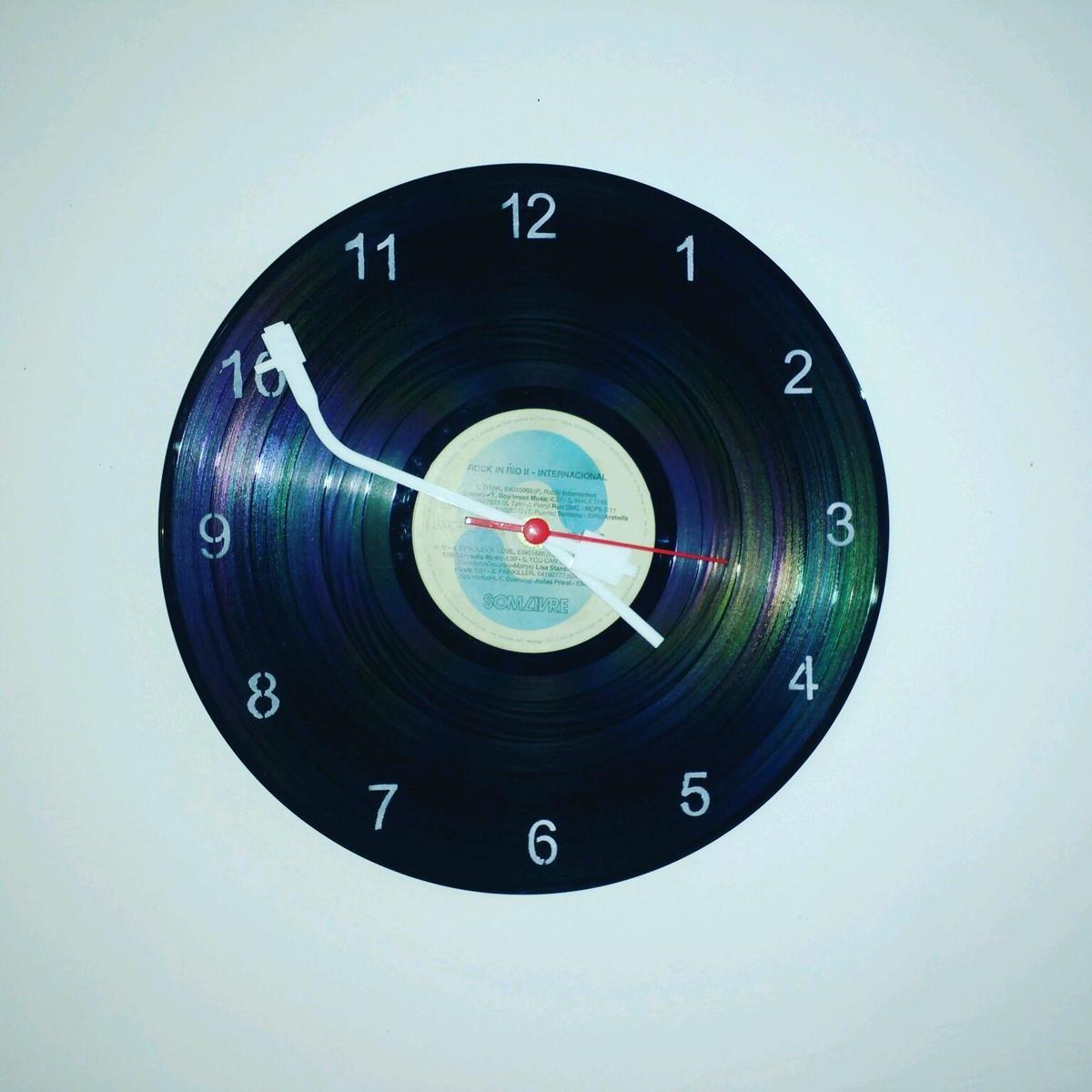 966976fe3ab Relógio de Parede Vintage no Elo7