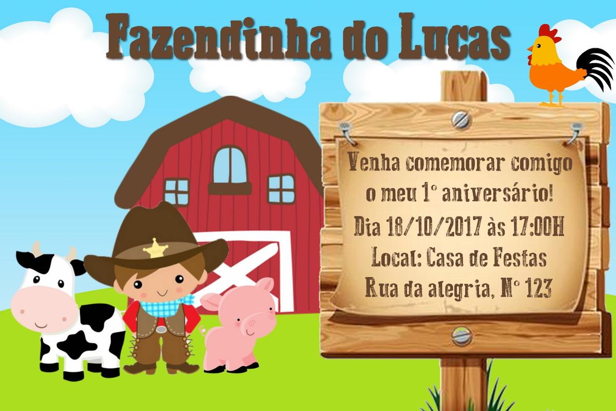 Top Convite Fazendinha - Arte Digital no Elo7 | Aquarela Digital (AB1B9F) UR41